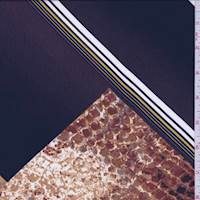 Aubergine/Caramel Diamond Block Crepe de Chine