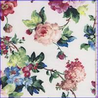 Pearl White Multi Garden Floral Scuba Knit