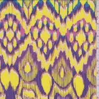 Purple/Yellow Ikat Crinkled Chiffon
