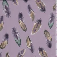 Dusty Mauve Feather Charmeuse
