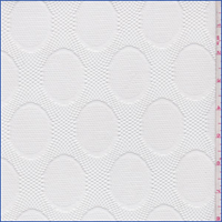 *2 3/4 YD PC--White Oval Dot Mesh Lace