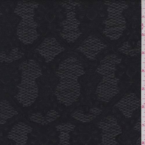 Black Hammered Satin Jacquard 72647 Fashion Fabrics
