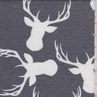 Charcoal Deer French Terry Knit