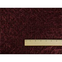 *2 YD PC--Burgundy Fuzzy Sweater Knit