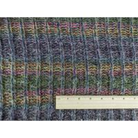 *2 3/8 YD PC--Blueberry/Multi Wool Sweater Rib Knit