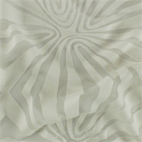 *1 5/8 YD PC--Cream White Geometric Sheer Jersey Burnout