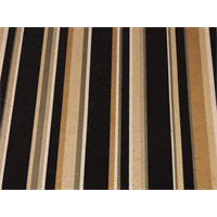 *5 1/8 YD PC--Black/Tan Stripe Home Decorating Fabric