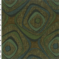 *1 1/2 YD PC--Brown/Blue/Green Geometric Jacquard Home Decorating Fabric