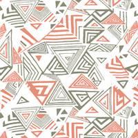 *4 1/2 YD PC--Navy/Orange Geometric Print Activewear