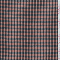 *3 YD PC--Brick Orange/Black Plaid Suiting