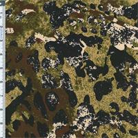 *2 5/8 YD PC--ITY Knit Abstract Safari Print