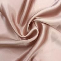 Peach Beige Silk Satin Charmeuse
