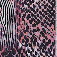 Lilac Animal Print Rayon Jersey