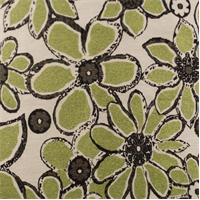 *4 YD PC--Kiwi Green Hot House Floral Upholstery Fabric