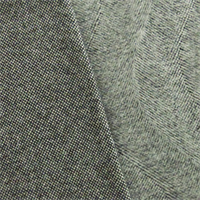 *1 YD PC--Gray Wool Blend Brushed Wave Jacketing