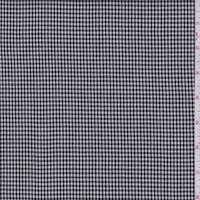 *2 1/4 YD PC--Black/White Check Crepe Suiting