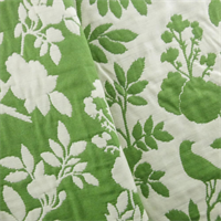 *2 YD PC--Green/Cream Tree Double Jacquard Home Decorating Fabric