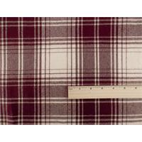 *5 YD PC--Maroon/Ivory Wool Plaid Flannel