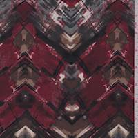 Timber/Pewter/Ruby Crepe de Chine