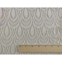 *2 1/2 YD PC--Cream White Scallop Sheer Jersey Burnout