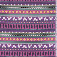 Purple/Hot Pink Stripe Georgette