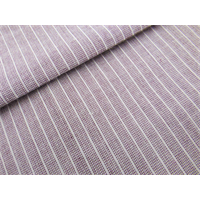 *2 3/8 YD PC--Wine Purple/White Cotton Pinstripe Shirting