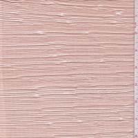 Peach Metallic Pleated Crepe de Chine