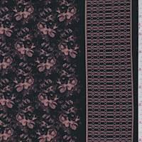 Black/Mauve Wallpaper Floral Jersey Knit