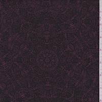 Wine/Black Baroque Medallion Jersey Knit