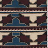 Cream/Wine/Teal Tribal Jersey Knit