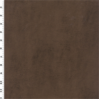 *2 YD PC--Faux Leather - Antique Walnut Brown
