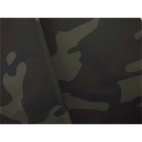 *4 1/8 YD PC--Brown/Multi Camo Print Taffeta
