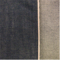 *3/4 YD PC--Vintage Blue Cotton Slub Japanese Selvedge Denim