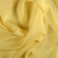 *4 YD PC--Bright Yellow Silk Crepe de Chine
