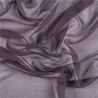 *1 1/2 YD PC--Aubergine Crinkled Silk Chiffon