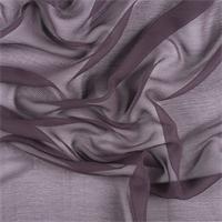 *1 1/2 YD PC--Aubergine Crinkled Silk Chiffon
