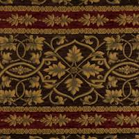 Brown/Multi Designer Stripe Tapestry Home Decorating Fabric