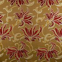 Red/Beige Floral Jacquard Home Decorating Fabric