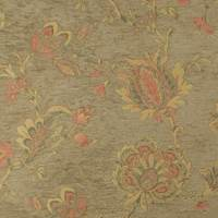 Brown/Multi Floral Chenille Jacquard Home Decorating Fabric
