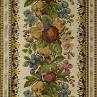 Ivory/Multi Fruit Floral Tapestry Home Decorating Fabric