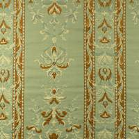 Teal/Brown Floral Stripe Jacquard Home Decorating Fabric