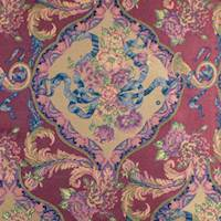 Berry/Multi Floral Jacquard Home Decorating Fabric