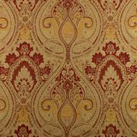 Beige/Red Paisley Baroque Jacquard Home Decorating Fabric