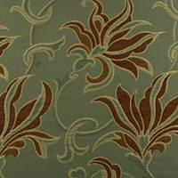 Green/Brown Floral Jacquard Home Decorating Fabric