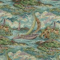 Multi Sailing Men Landscape Tapestry Decorating Fabric