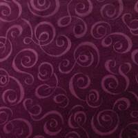 Plum Purple Swirl Velvet Home Decorating Fabric