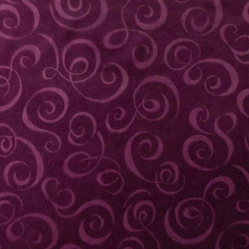 Plum Purple Swirl Velvet Home Decorating Fabric