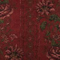 Red Floral Chenille Tapestry Home Decorating Fabric