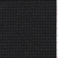 *3 1/2 YD PC--Grey Wool Houndstooth Twill Suiting
