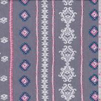 Dove Grey Wallpaper Stripe Crepon